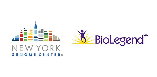 New york genome logo next to BioLegend logo